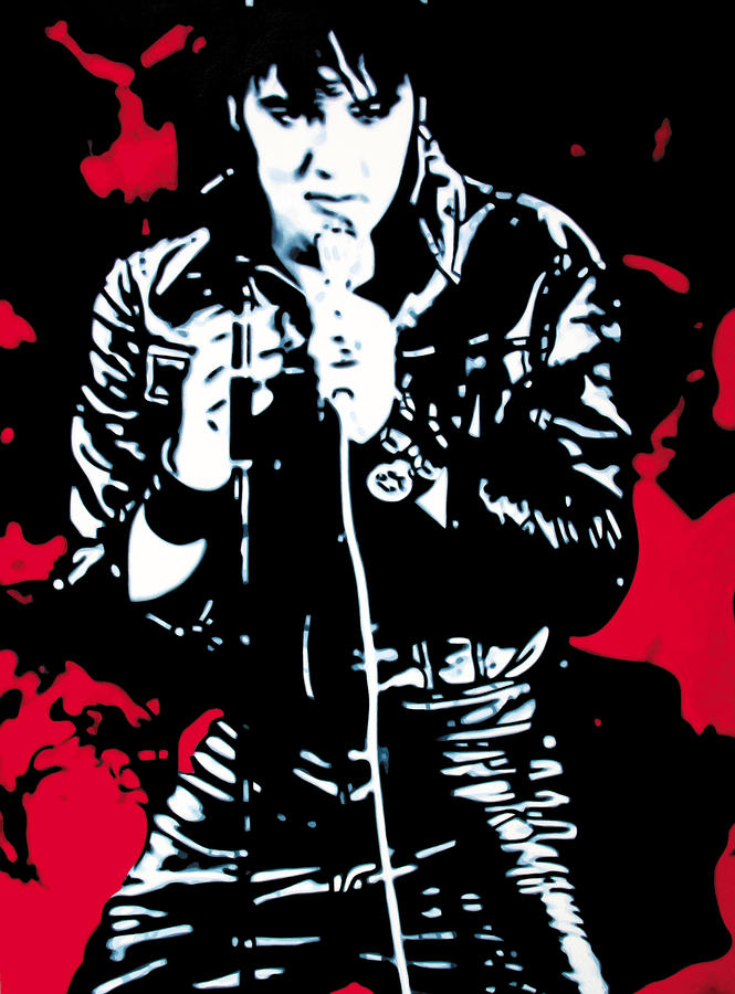 Elvis Painting  - Elvis Fine Art Print