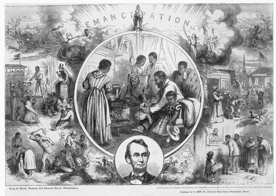 1865 Photograph - Emancipation Proclamation by Granger