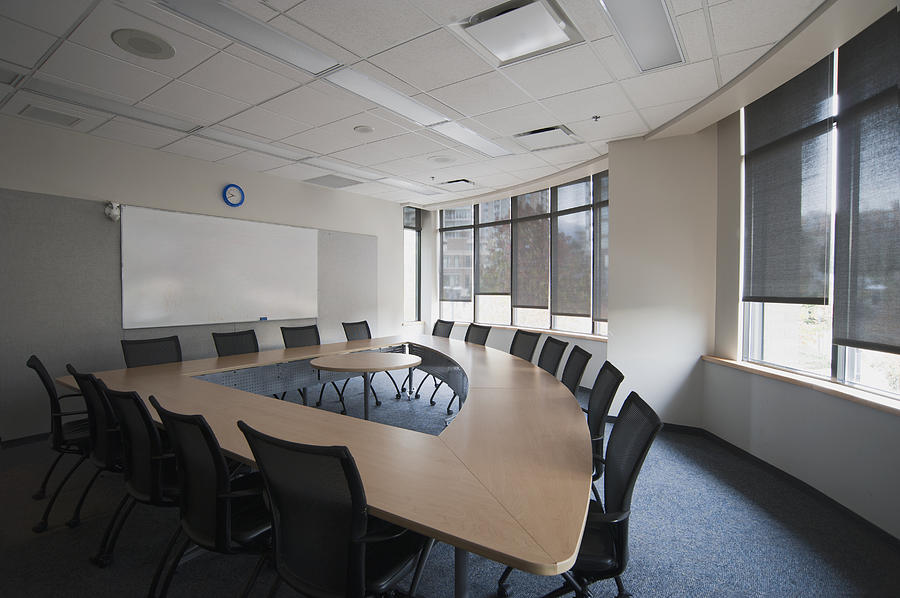 Empty Boardroom Or Meeting Room In An Photograph