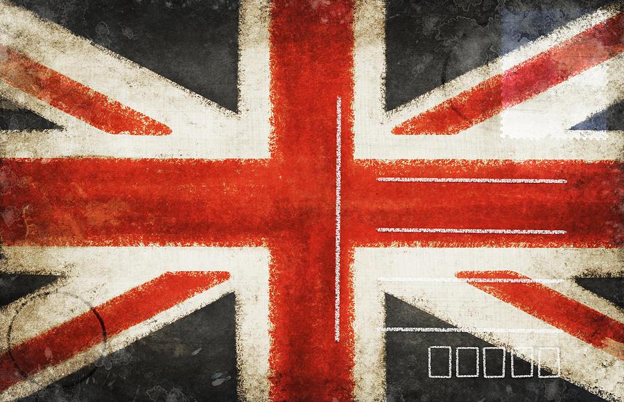 England Flag Postcard Photograph