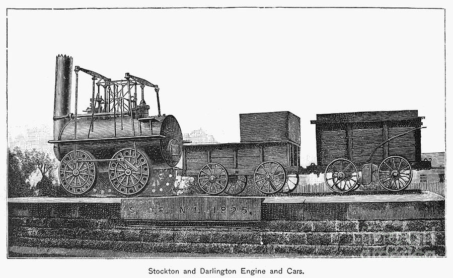 English Locomotive, 1825 Photograph  - English Locomotive, 1825 Fine Art Print