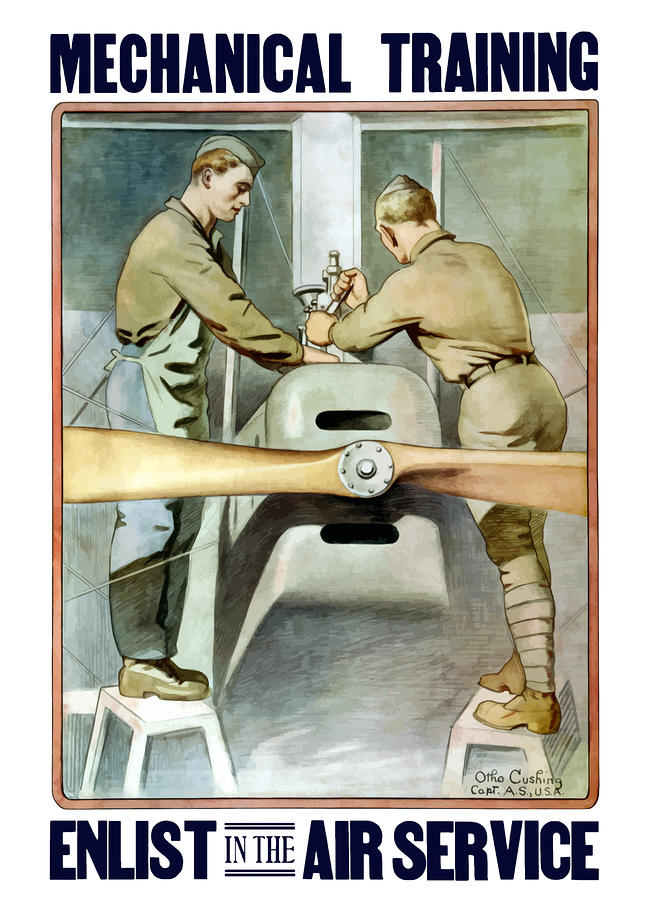 Enlist In The Air Service Painting  - Enlist In The Air Service Fine Art Print