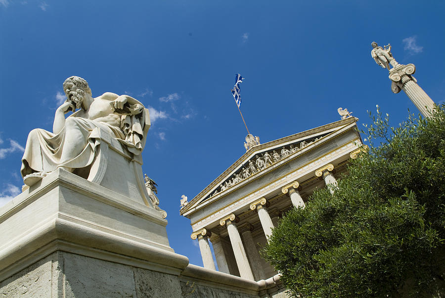 Europe Photograph - Exterior Of The Athens Academy, Greece by Richard Nowitz