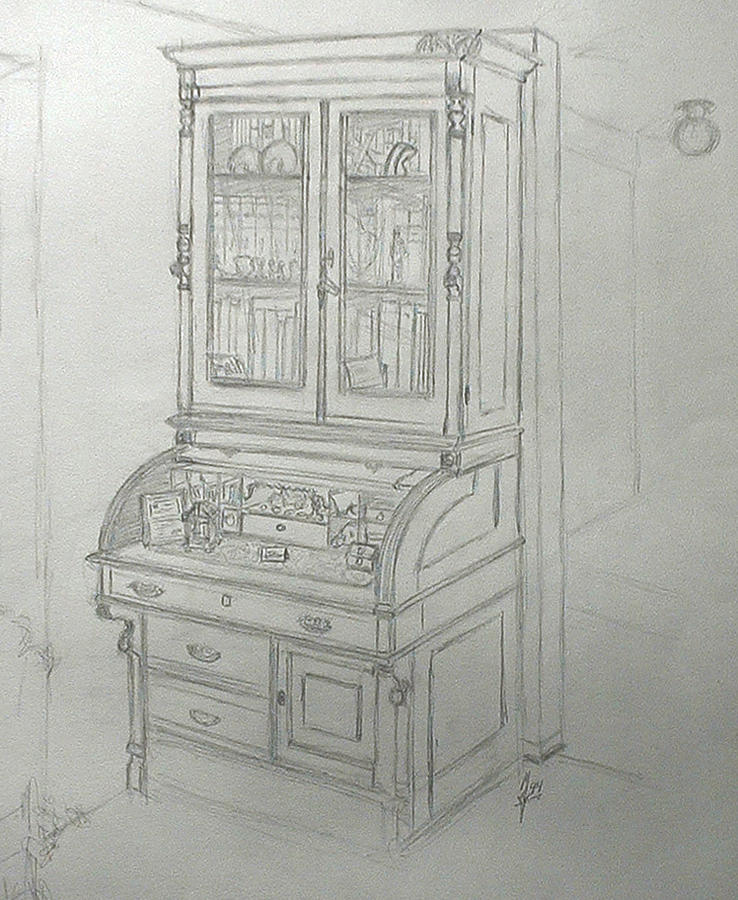 Fathers Desk Drawing