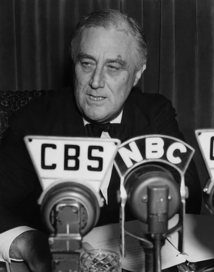 Fdr Presidency.  Us President Franklin Photograph