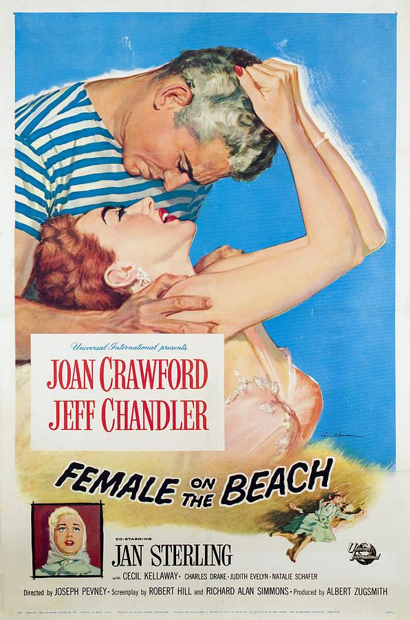 Female On The Beach, Jeff Chandler Photograph