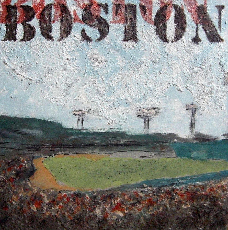 Boston Painting - Fenway by Romina Diaz-Brarda