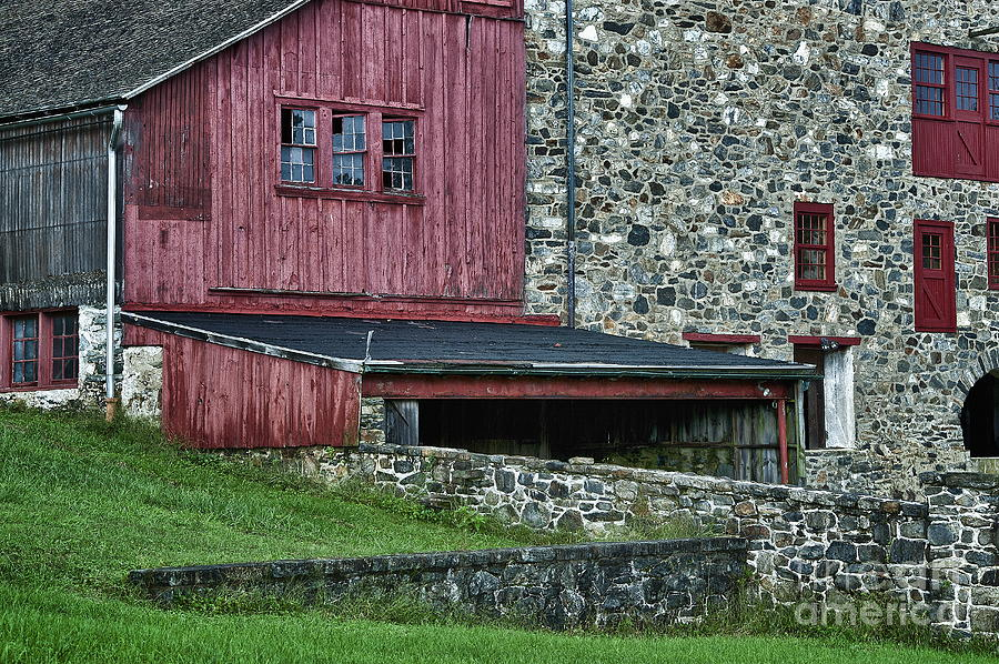 Field Stone Barn Photograph