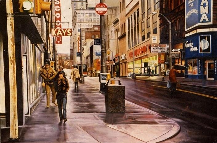 Fifth Avenue In The 80s Painting