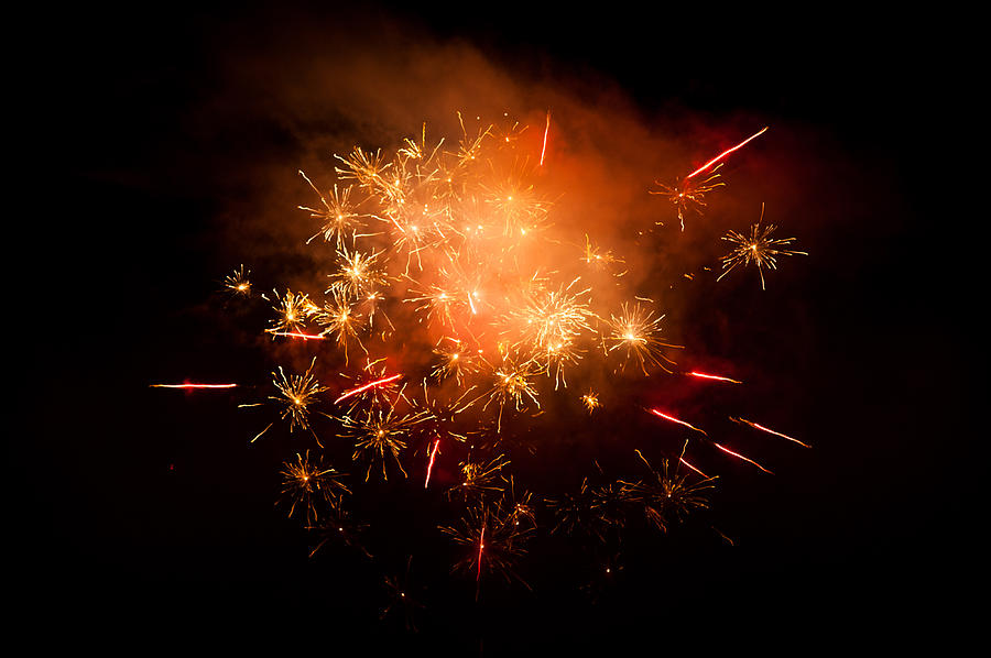 Firework Display At New Years Eve Photograph  - Firework Display At New Years Eve Fine Art Print