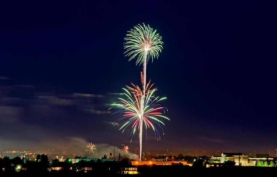 Fireworks Photograph - Fireworks by Elijah Weber