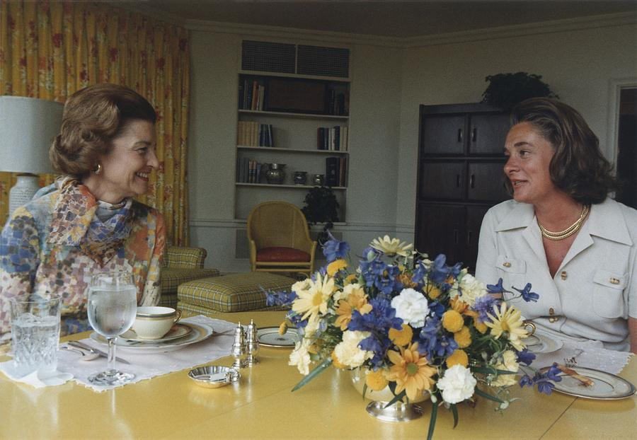 First Lady Betty Ford And Happy Photograph