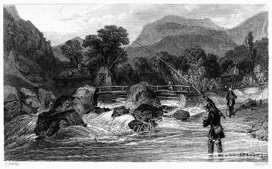 Fishing, 19th Century Photograph