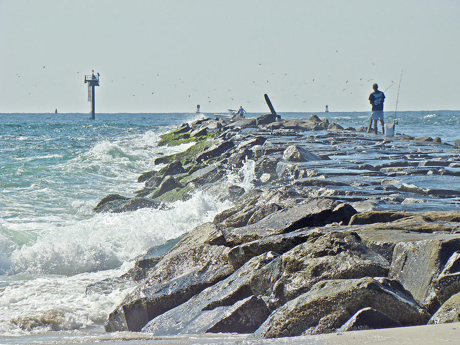 Fishing the jetty island beach state park nj photograph for Island beach state park fishing