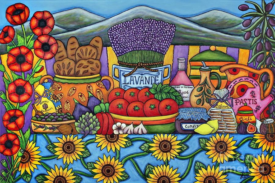 Flavours Of Provence Painting  - Flavours Of Provence Fine Art Print