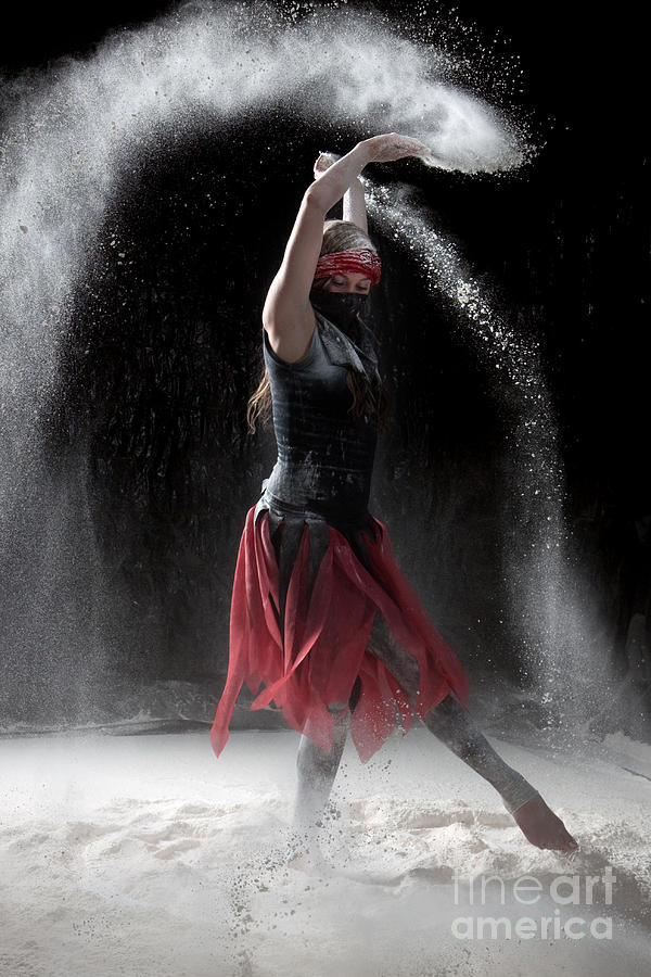 Flour Dancing Series Photograph  - Flour Dancing Series Fine Art Print