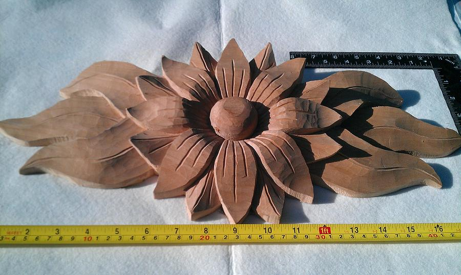 Flowers Carved Application Sculpture