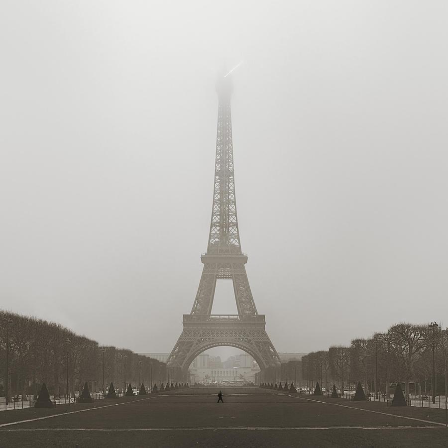 Foggy Morning In Paris Photograph