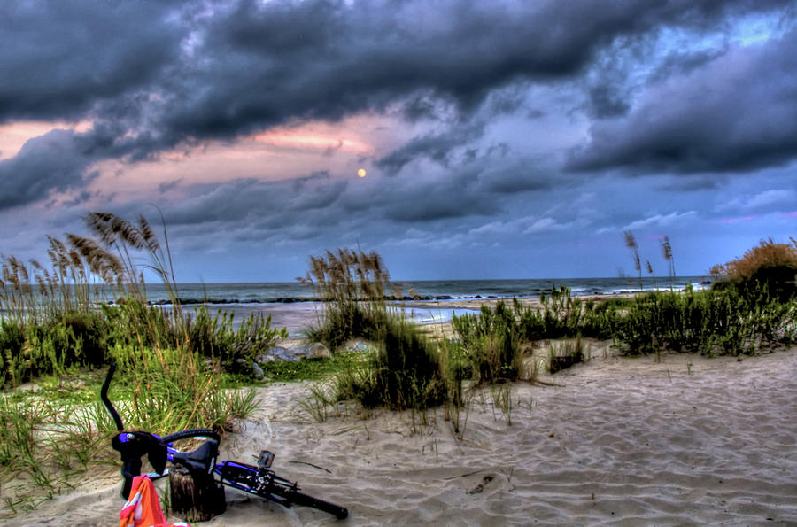 Folly Beach At Dusk Photograph