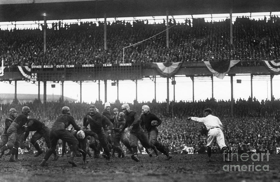 Football Game, 1925 Photograph  - Football Game, 1925 Fine Art Print