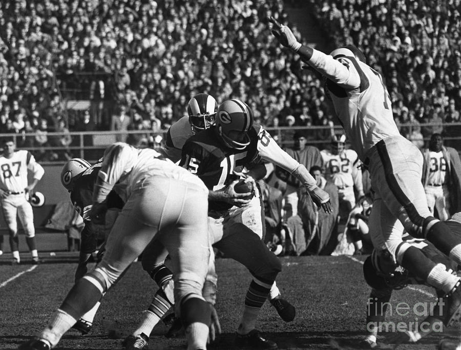 Football Game, 1965 Photograph  - Football Game, 1965 Fine Art Print