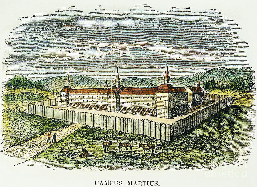 Fort Marietta, Ohio, C1790 Photograph  - Fort Marietta, Ohio, C1790 Fine Art Print