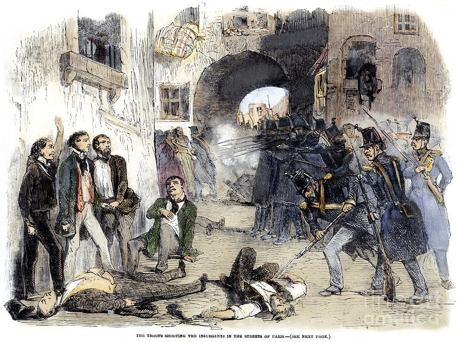 France: Paris Riot, 1851 Photograph
