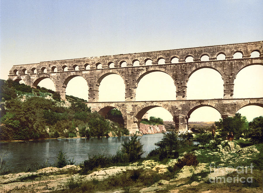 France: Roman Aqueduct Photograph by Granger