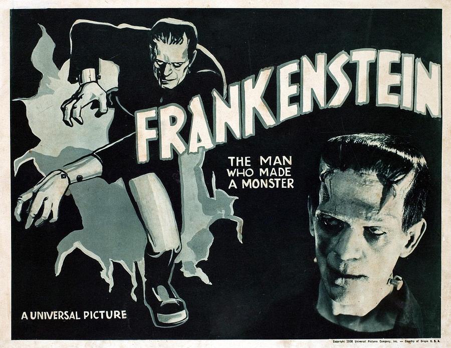 Frankenstein, Boris Karloff, 1931 Photograph