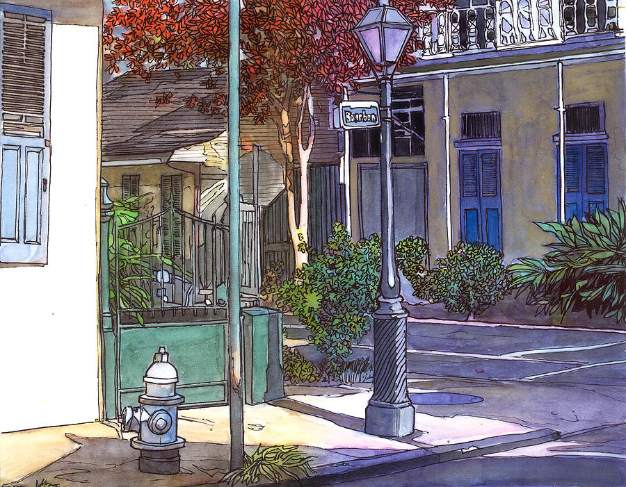 French Quarter Corner Painting  - French Quarter Corner Fine Art Print