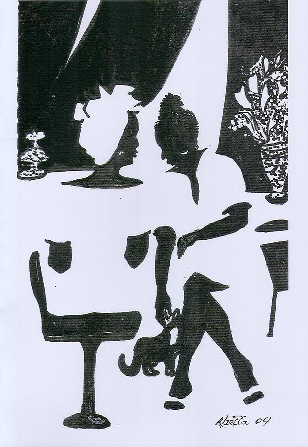 Women Drawing - Friends by Rhetta Hughes