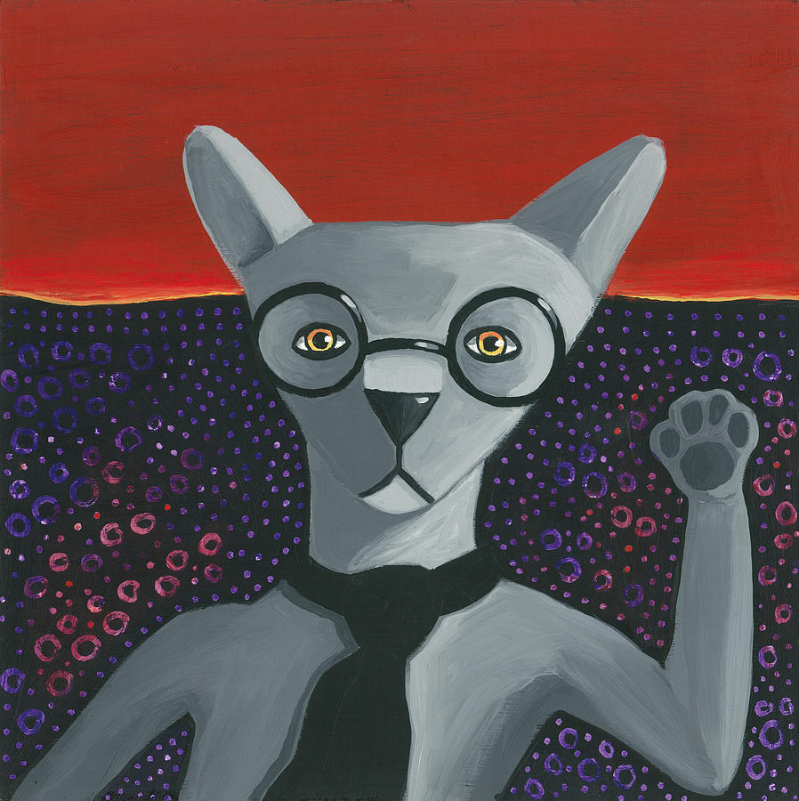 Funky Grey Painting  - Funky Grey Fine Art Print