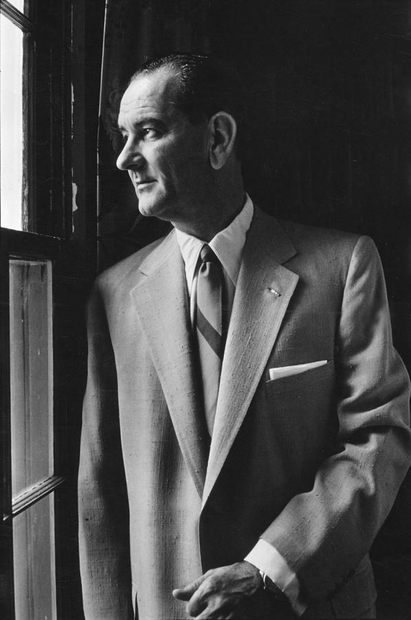 1950s Candids Photograph - Future President Lyndon Johnson by Everett