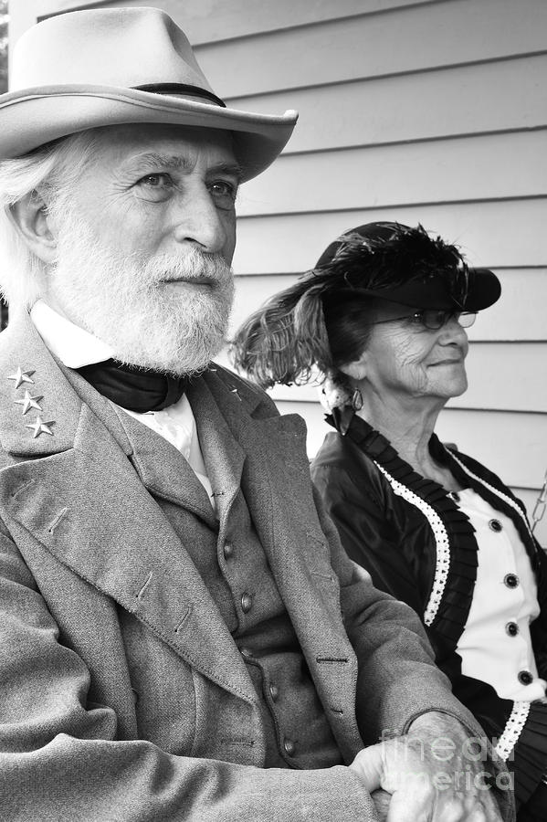 General Lee And Mary Custis Lee Photograph  - General Lee And Mary Custis Lee Fine Art Print