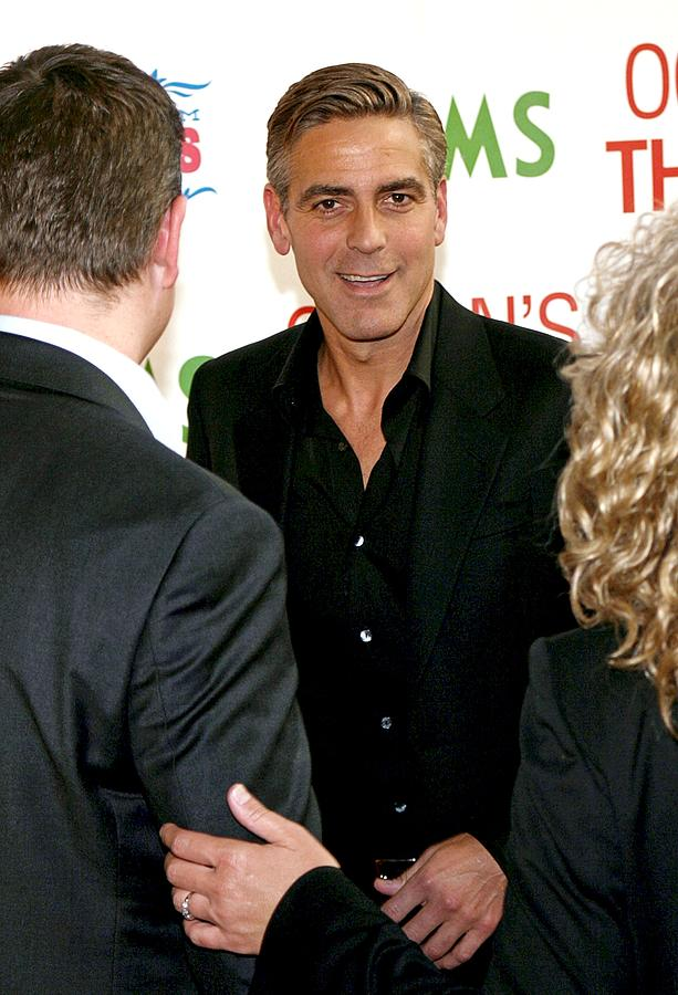 George Clooney At Arrivals For Oceans Photograph  - George Clooney At Arrivals For Oceans Fine Art Print