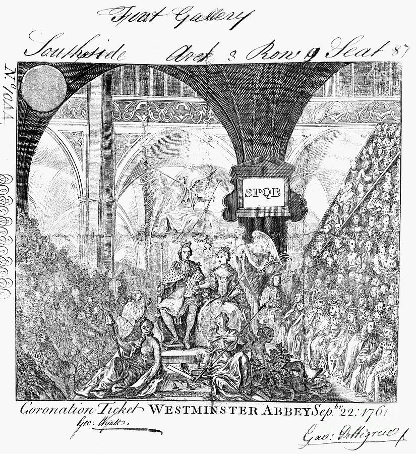 George IIi: Coronation, 1761 Photograph  - George IIi: Coronation, 1761 Fine Art Print