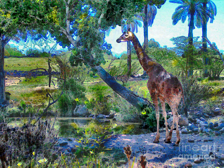 George The Giraffe Painting  - George The Giraffe Fine Art Print