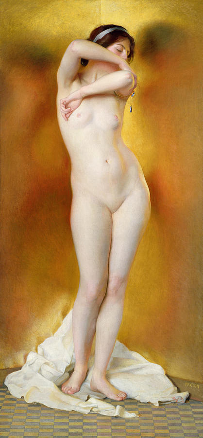 Glow Of Gold Gleam Of Pearl Painting  - Glow Of Gold Gleam Of Pearl Fine Art Print
