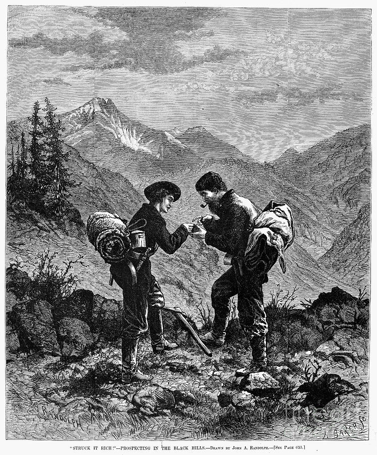 1876 Photograph - Gold Prospectors, 1876 by Granger