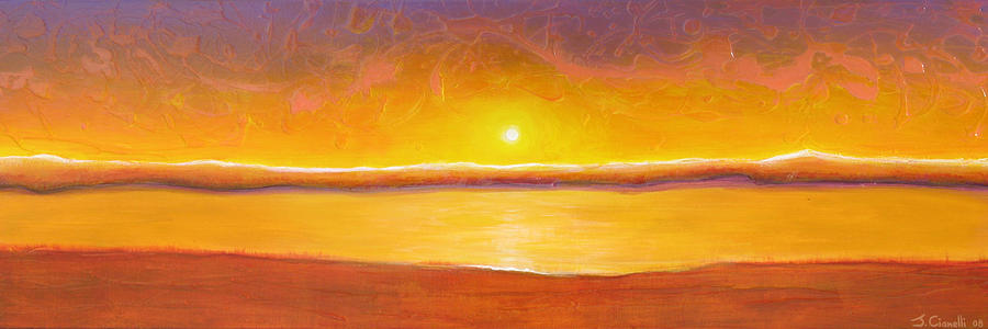 Gold Sunset Painting  - Gold Sunset Fine Art Print
