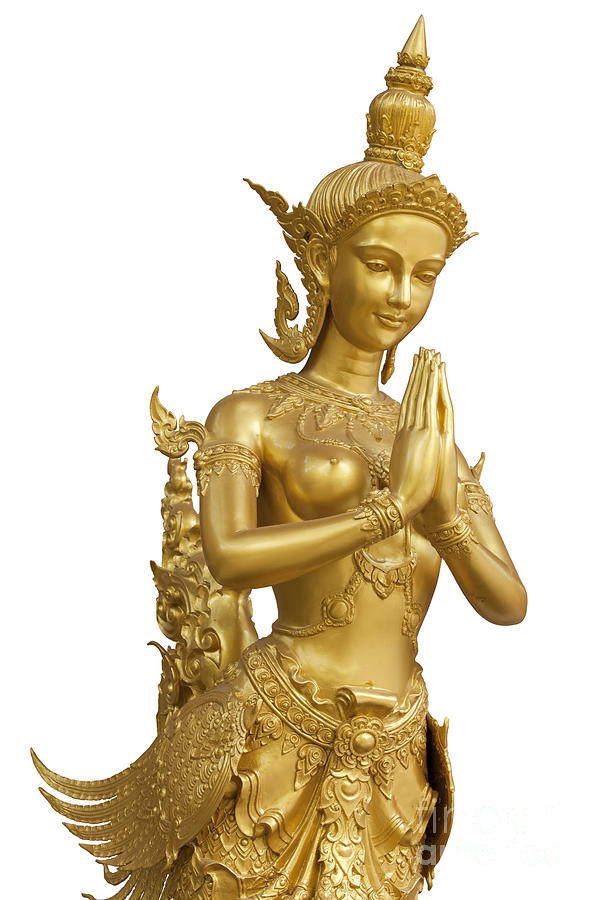 Goldent Ginnaree Statue Art  Photograph  - Goldent Ginnaree Statue Art  Fine Art Print