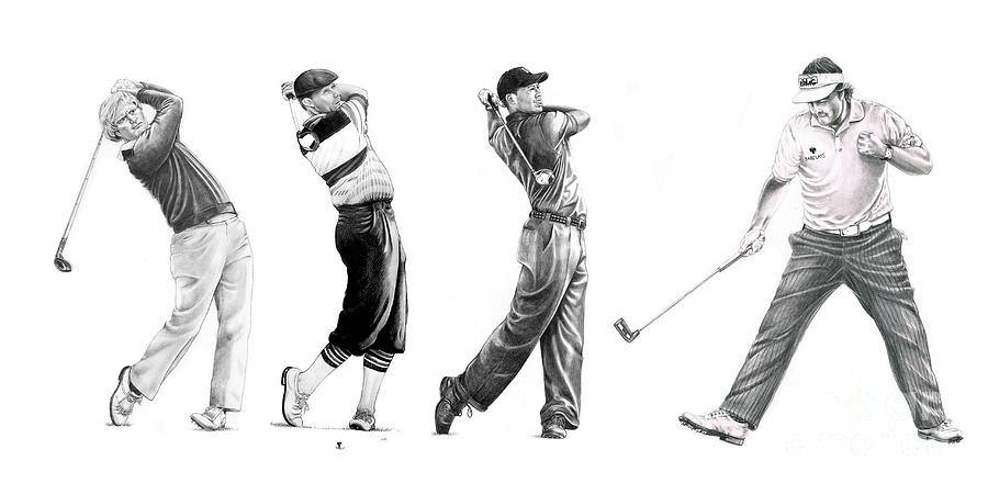 Golfers Drawing