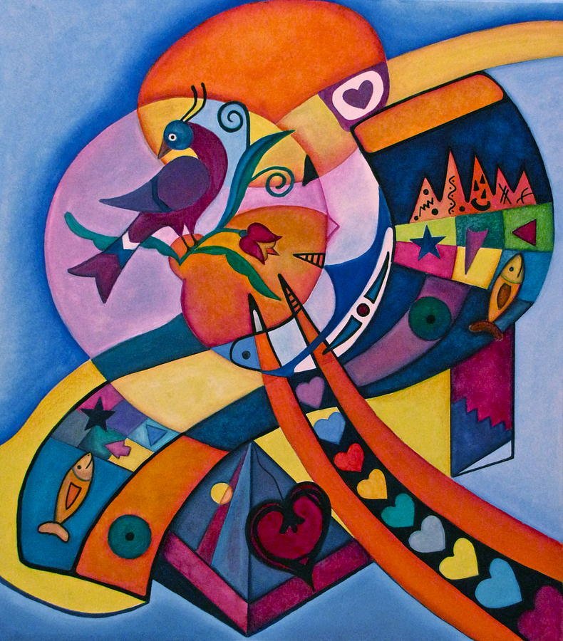 Good luck bird distlefink painting by lori miller for How to make a good painting