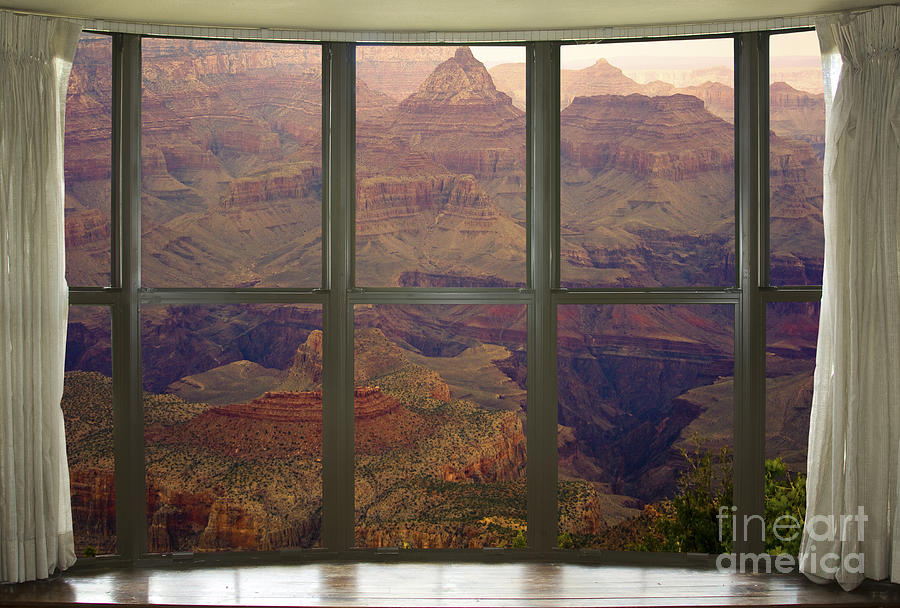 Grand Canyon Springtime Bay Window View Photograph  - Grand Canyon Springtime Bay Window View Fine Art Print