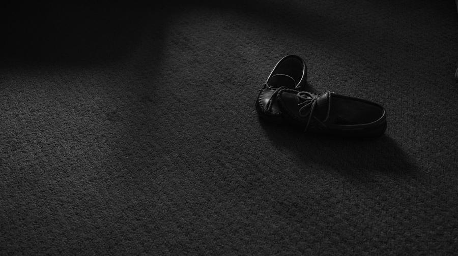 Slippers Photograph - Grandpas Slippers by Tristan Bosworth