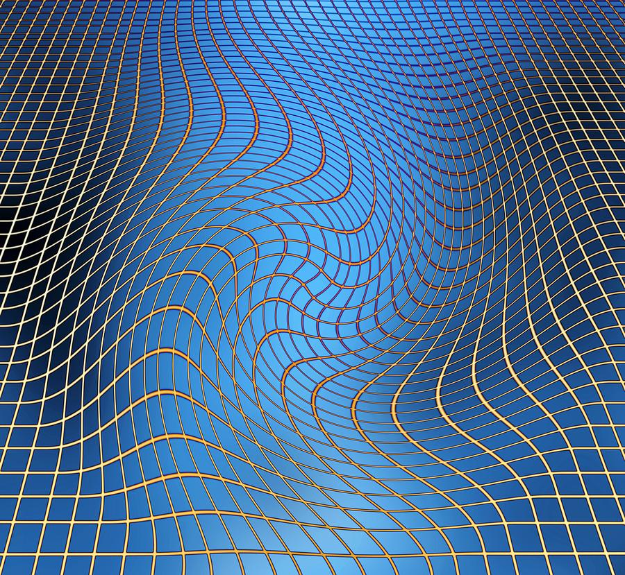 Gravity Wave Photograph - Gravity Waves In Space-time, Artwork by Victor De Schwanberg