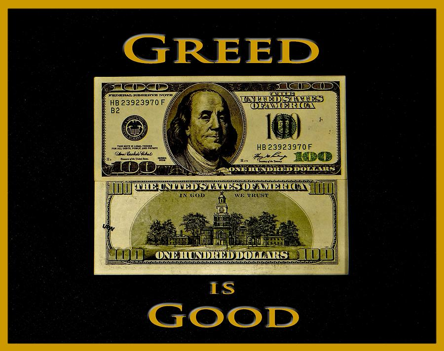 greed is good by gordon gekko More than 20 years on, greed is good again michael douglas yesterday reprised his role as hollywood anti-hero gordon gekko as he began filming the highly-anticipated.