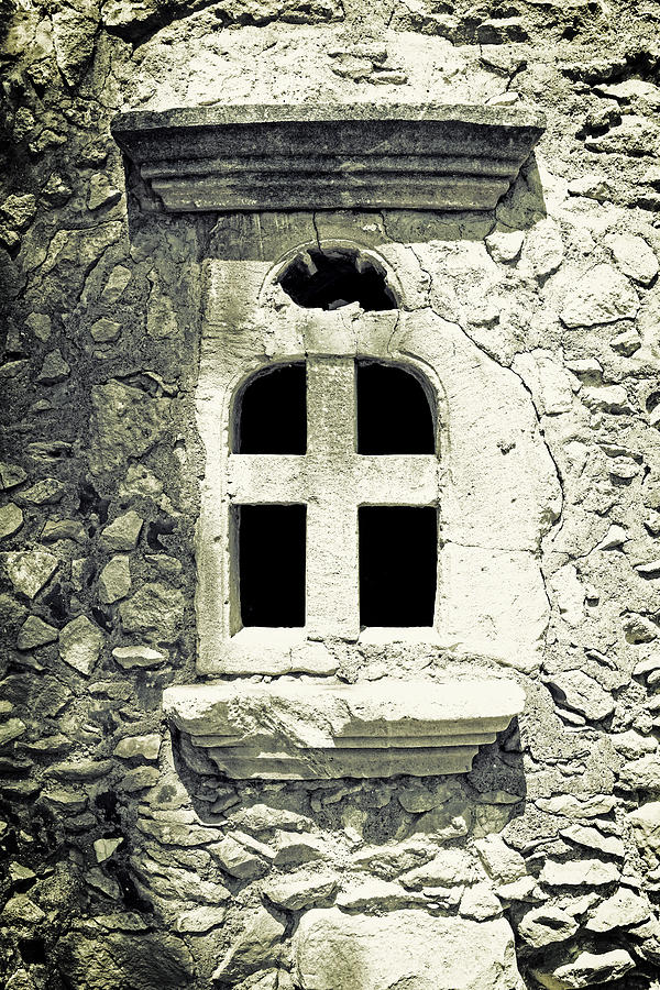 Window Photograph - Greek Chapel by Joana Kruse