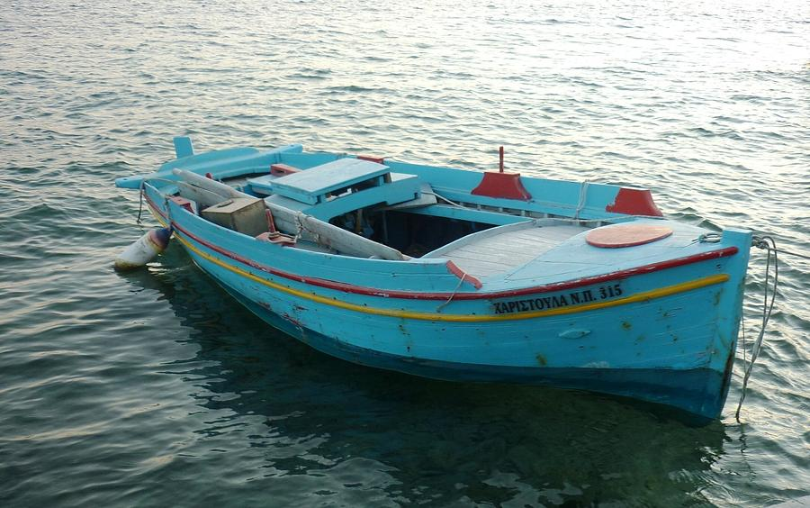Greek Fishing Boat Photograph by Therese Alcorn