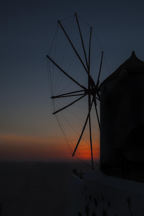 Greek Windmill Photograph